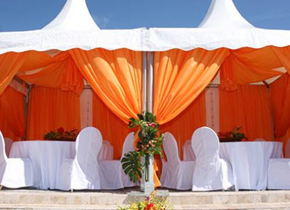 How to Decorate Tent Poles